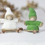 Amigurumi: Set 2 decorazioni Gnomi Natale