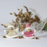 Amigurumi: Set 2 decorazioni Folletti Natale