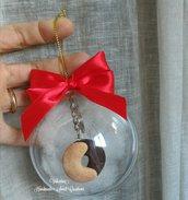 Idea regalo Natale portachiavi biscotti