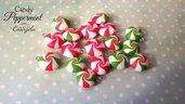 Ciondolo caramella peppermint fimo pendente materiale per creare bigiotteria accessori bomboniere decorazioni