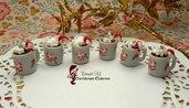 Ciondolo tazza mug ceramica fimo panna cioccolato materiale per creare bigiotteria miniature accessori decorazioni