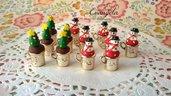 Ciondolo tazza dorata pupazzo di neve albero di natale per creare bigiotteria miniature accessori decorazioni