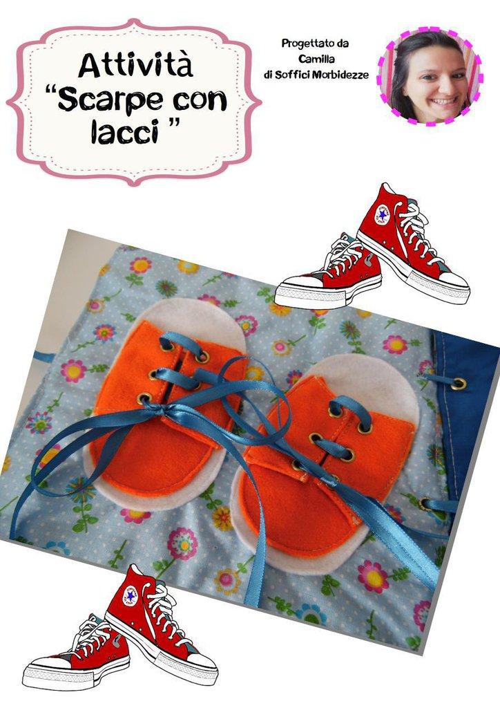 """TUTORIAL ATTIVITA' QUIET BOOK """"Scarpe con lacci""""- PDF"""