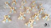 Bomboniere battesimo portafoto orsetto AnimalettiLettere personalizzabili