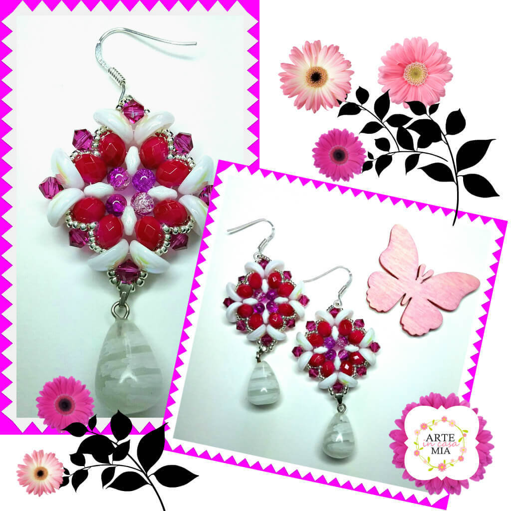 Orecchini Piggy Ciclamino – Fleur de lys