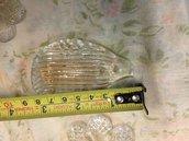 Foglie , ricambi per specchi Veneziani, con pezzi rotti e ideali per il restauro, in vetro soffiato di Murano, color oro e trasparente, e chiodi