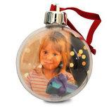 Pallina portafoto per albero di Natale - diametro cm. 8