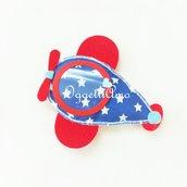 Aeroplanino di feltro per i gadget del vostro bambino: calamite originali e colorate per le sue bomboniere!