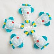 10 Aeroplanini di stoffa fatti a mano per le bomboniere del tuo bambino: originali calamite per ricordare il vostro evento