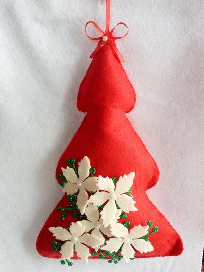 Stella Di Natale Con Pannolenci.Fuoriporta Alberello Di Natale Con Stella Di Natale In Pannolenci