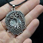 Ciondolo ALBERO DELLA VITA vichinghi portafortuna amuleto
