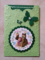 """Invito per Compleanno  """"Masha e Orso"""""""