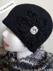 cappello cloche in lana