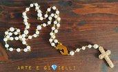 Collana rosario con perle