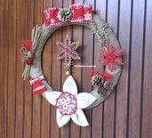 Ghirlanda natalizia grande, con stella di Natale