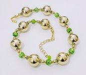 Collana delle feste1 con elementi originali vintage (1979) - Collana d'oro