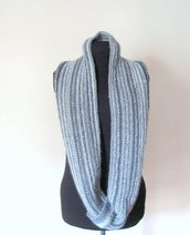 Sciarpa di lana ad anello - sciarpa circolare- Sciarpa unisex - sciarpa infinity - sciarpa uomo