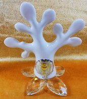 Bomboniera albero della vita porcellana con petali cristallo ed icona prima comunione