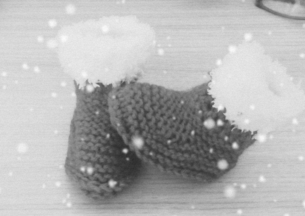 Stivaletti  scarpine Natale crochet neonato bebè