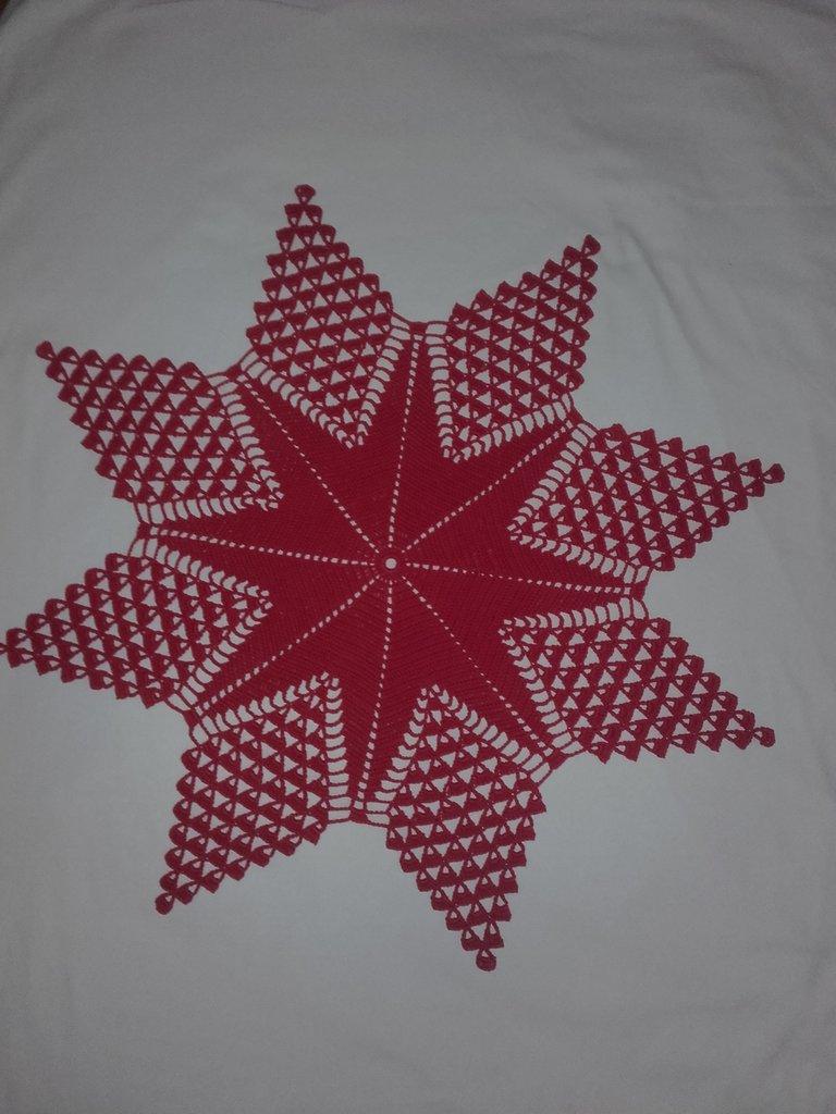 Centrino Stella all'uncinetto Centro 65 cm idea regalo  Natale