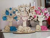 Albero della vita nuova nascita in legno con incisione personalizzata