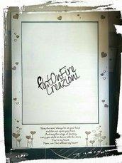 Cornice portafoto in legno con incisione personalizzata