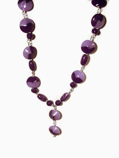 collana swirl lilla-viola