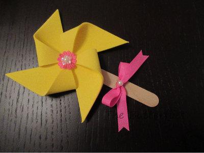 N° 15 Girandole segnaposto, bomboniera, con fiore, fiocco e stecco legno