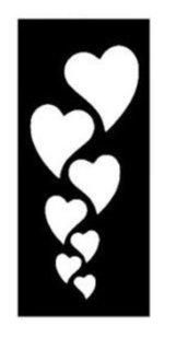 Stencil per Tattoo Glitter 18