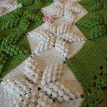 """Copertina neonato di lana, """"Mimosa"""""""