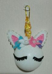Pallina unicorno, decorazione natale, bambine