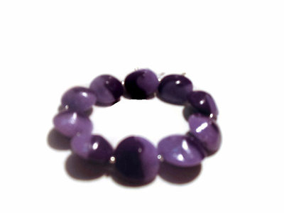 bracciale swirl elastico lilla-viola
