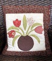 Quillow - cuscino che si trasforma in coperta di pile - Cuscino con motivo floreale - Toni del rosa antico