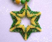 Collana con ciondolo Green Star – Linea Stella Doppia