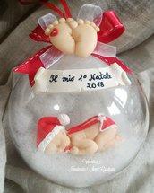 Sfera bebè idea regalo Natale 10 cm