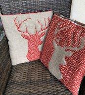 Quillow - cuscino che si trasforma in coperta di pile - Cuscino con cervo