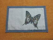Tovaglietta americana per colazione merenda farfalla blu