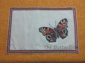 Tovaglietta americana per colazione merenda farfalla rossa