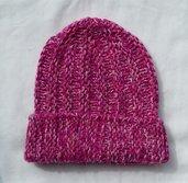 Cappello unisex, puro cashmere 8 fili; fatto a mano.