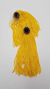 Orecchini Frangia gialla