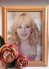 Portafoto con Rose Dipinte a mano