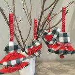 Decorazione natalizia set scozzese