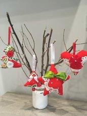 Set decorazioni natalizie Rosso/Verde
