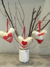 Set decorazioni natalizie Cuori dorati