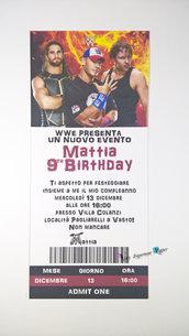 Inviti compleanno Wrestling