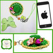 Ciondolo per cellulare Tiffany Verde – Linea I Cappellini