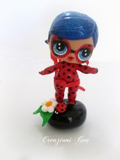 Bambolina Lol surprise customizzata in Lady bug