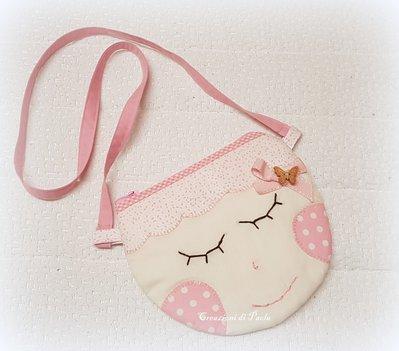 Borsetta rosa per bimba con tracolla