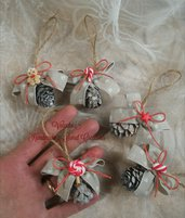 Pigne country shabby chic  Natale fimo