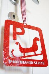 PARCHEGGIO SLITTE con glitter. Decorazioni natalizie originali e allegri!